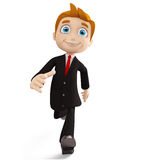 Businessman with running pose. 3d illustration of businessman with running pose Royalty Free Stock Image