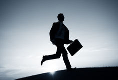 Businessman Running Rush Hour Concept Royalty Free Stock Image