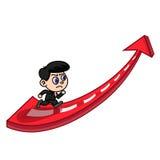 Businessman running to success Stock Photos