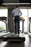Businessman Running On Treadmill Royalty Free Stock Photos