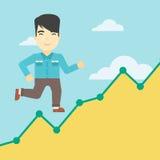 Businessman running upstairs. Stock Image