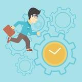 Businessman running vector illustration. Royalty Free Stock Image