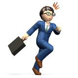 Businessman running Stock Image