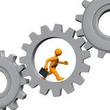 Employee Grey Gears Stock Photography