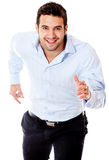 Businessman in a rush Stock Image