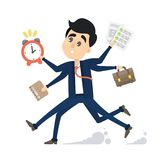 Businessman in a rush. Businessman in a rush running because of deadline Stock Images