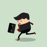 Businessman in a rush hour. VECTOR, EPS10 Royalty Free Stock Image