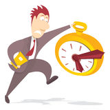 Businessman rushing for deadline Stock Photography