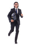 Businessman rushing Stock Photography