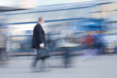 Businessman rushing to office Stock Photos