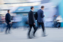 Businessman rushing to office Royalty Free Stock Photography