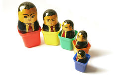 Businessman Russian dolls Royalty Free Stock Photography