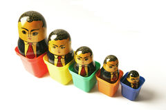 Businessman Russian dolls stock photography