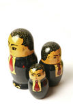 Businessman Russian dolls Stock Image