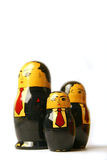 Businessman Russian dolls stock images