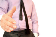 Businessman's Extended Hand Stock Image