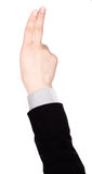 Businessman's  finger pointing or touching Royalty Free Stock Photography