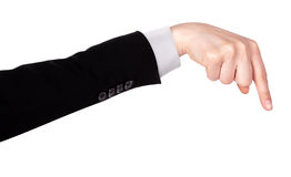 Businessman's  finger pointing or touching Stock Image