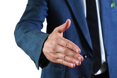 The businessman's  greets Stock Image