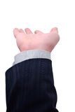 Businessman's hand. Ready to support anything Royalty Free Stock Images