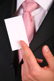 Businessman`s hand with card Stock Image