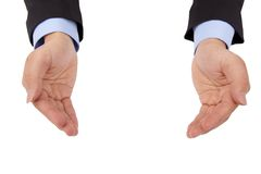 Businessman 's hand holding something Stock Photo