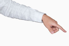 Businessman's hand point with clipping path Stock Image