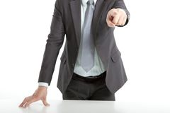 Businessman's hand pointing Stock Image