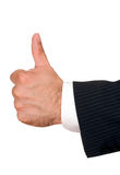 Businessman's hand with thumbs up Royalty Free Stock Photo