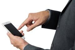 Businessman's hand using smart phone Stock Photography