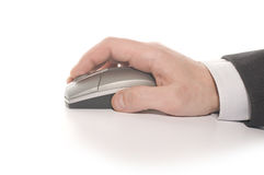 Free Businessman S Hand Working On Mouse Royalty Free Stock Images - 14510329