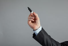 Businessman's hand writing Stock Image