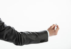 Businessman's hand writing Royalty Free Stock Image