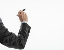 Businessman's hand writing Stock Photos