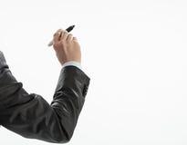 Businessman's hand writing Stock Photos