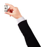 Businessman's hands with dollars isolated Stock Photography