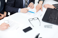 Businessman's hands signing a contract Stock Photography