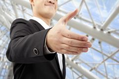 Businessman's handshake Stock Images