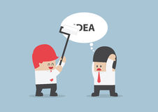 Businessman's idea is being erased by his rival. VECTOR, EPS10 Royalty Free Stock Photography