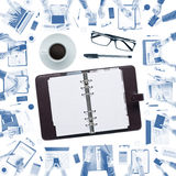 Businessman's organizer Royalty Free Stock Images