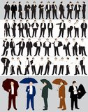 Businessman's silhouettes Royalty Free Stock Image