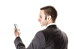 Businessman's smartphone Stock Images