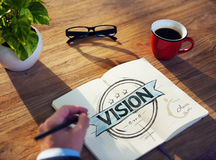 Businessman's table with Vision Concept Stock Image
