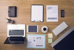 Businessman's tidy desktop Stock Image