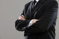 Businessman's torso in suit Royalty Free Stock Photography