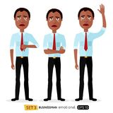 Businessman is sad crying concept vector illustration cartoon s Stock Photo