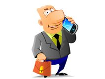Businessman said by mobile phone Royalty Free Stock Photography