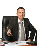 The businessman with salutatory gesture Stock Photo