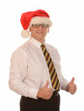 Businessman in Santa hat Royalty Free Stock Photos