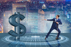 The businessman saving american dollar concept Stock Images